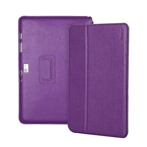 """Yobao Executive Real Leather Case for Samsung Galaxy Note 10.1""""  Purple"""