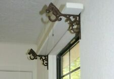"Farmhouse Window Decor Over The Window Shelf Bracket & Rod Holder, 7 1/8"", B-35"
