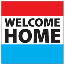 Welcome Home Plastic Outdoor Yard Sign Staked Standup Standee Military Family