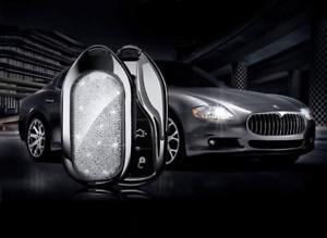 Maserati key fob flip shell crystal cover keyring European royal crystal  PINK