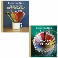 Farrow & Ball Recipes, How to Decorate 2 Books Collection Set Hardback NEW