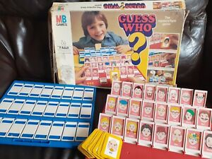 Vintage Retro MB Games - Guess Who - 1980 Ed - Sold For Spares / Replacements