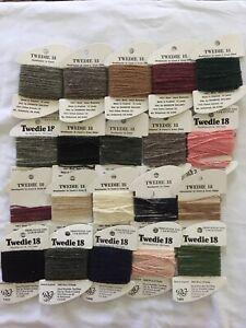 Assorted Lot 20 Twedie 18 Wool Needlepoint Cross Stitch Yarn Thread Full Partial