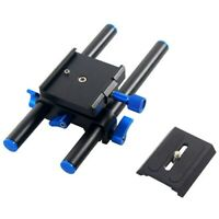 15mm Rail Rod Support System Baseplate Mount for DSLR Follow Focus Rig