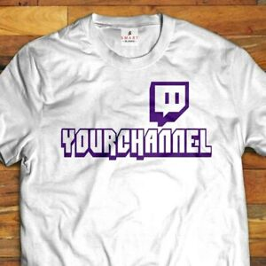 TWITCH TV YOUR CUSTOM CHANNEL T-shirt  Gray, White or Black(S-5XL)