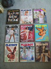 9 VINTAGE PLAYBOYS 1976 GOOD SHAPE centerfolds SEXY MODEL playmates PIN-UP