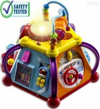 WolVol Educational Kids Toddler Baby Toy Musical Activity Cube Play Center with