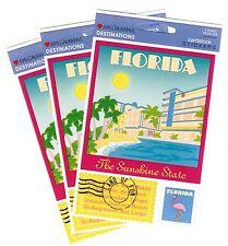 Mrs Grossman's Florida Destinations Cardstock Travel Scrapbook Stickers 3 Sheets