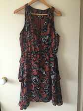Piper Tiered Soft Print Dress Size 10 NWOT RRP $129
