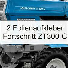2 Folien Aufkleber Schlepper Fortschritt ZT 300-C in weiß hochglanz