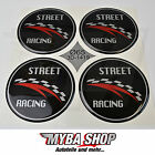 4x Silicone Sticker Street Racing ∅= 65mm for Hub Caps Emblems Sticker #NEW