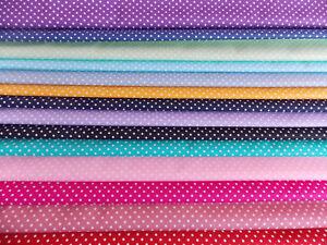 100% Cotton Poplin Fabric Spot Spot size 3mm  ROSE AND HUBBLE