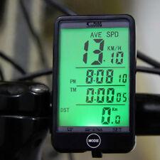 Wireless Bicycle Cycle LCD Digital Computer Bike Speedometer Odometer Meter Time