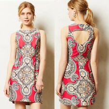 ANTHROPOLOGIE MOULINETTE SOEURS GEIDI PINK PAISLEY DRESS $158 10P