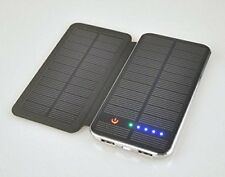 Power Bank 10000mAh mit Solar für Samsung S7 - S8 - S9 - S10 iPhone Huawei Sony