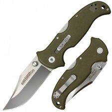 "Cold Steel Bush Ranger Lite 3.5"" 8Cr13MoV Steel Long GRN Handle W/ Belt Clip 21A"