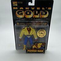 Marvels Gold Luke Cage POWER MAN Action Figure Toy Biz USA Vintage Rare MCU