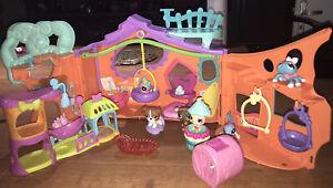 LOT PETSHOP Pet Shop : Maison Orange De La Forêt + 6 Figurines TBE