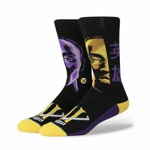 Stance NBA Limited Edition!Kobe Bryant Hero socks men's crew sox sizeL9-12 black
