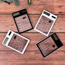 Mini Cute Cat Ultra Slim Credit Card Solar Power portable Pocket Calculator