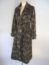 Nos 2004 L.A.M.B. Military Trench Coat Olive Wool Leopard LAMB Gwen Stefani 4