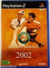 ROLAND GARROS 2002 French Open - jeu video de Tennis console PlayStation 2 PS2