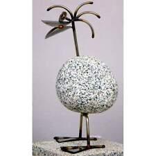 Steintier Ente ca. 32cm hoch aus Granit und Edelstahl