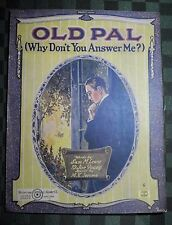 """1921 LEWIS & YOUNG, M. K. JEROME SHEET MUSIC """"OLD PAY WHY DON'T YOU ANSWER ME?"""""""