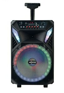 """Party Speaker NEW 12"""" w/LED Light Rechargeable Bluetooth /Aux Input/USB/FM Radio"""