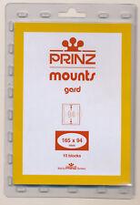 Prinz Scott Stamp Mounts Size 165/94 Black Background Pack of 10