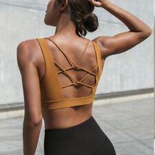 Hollow Out Cross Back Sportswear Brassiere For Women Shockproof Fitness Yoga Bra