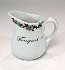 Fouquet's Restaurant Hotel Ware Individual Cream Pitcher GDA Limoges France 70s