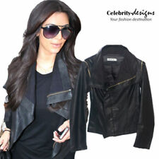 Leather Casual Punk Coats, Jackets & Vests for Women