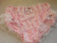 Pink Nylon Frilly Panties Sissy CD TV Lingerie for Men