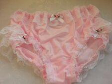 REDUCED FOR 1 WEEK Pink Nylon Frilly Panties Sissy CD TV Lingerie for Men