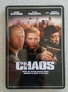 CHAOS (DVD, 2005) Jason Statham, Wesley Snipes VERY RARE STEELBOOK/ AUS R4