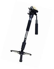 Koolehaoda caméra professionnelle aluminium monopode fluide tête vidéo avec pliable t