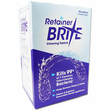 Retainer Brite 96 Cleaning Tablets ~ Removeable Dental Appliances Braces Cleaner