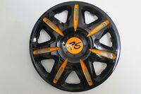 4 Radkappen Nascar orange/black in 15 Zoll brandneu Modell 2014