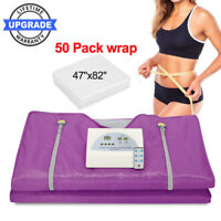 Far Infrared Sauna Blanket 2Zone Digital Controller Slimming Weight Detox Gift