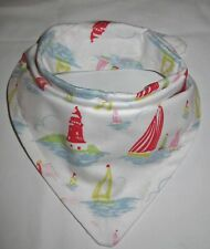 Bandanna Dribble Bib made with Cath Kidston lighthouse material
