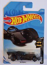 2018 Hot Wheels #62/365 Batman Batmobile #4/5 - 1989 Movie - Long Card