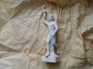 Olympia Fackelträger Skulptur  -ca. 26 cm - Keramik - zum selber bemalen ? Retro