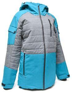 Spyder Bobby Brown The Combo Hooded Ski Jacket Men XS Blue Gore-Tex Primaloft