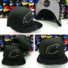 New Era NBA Cleveland Cavaliers Black Patent Leather snapback Hat cap