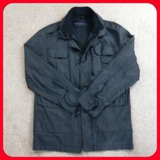 Men's French Connection Black Rain Jacket Coat Cotton Medium