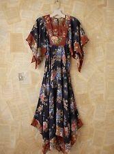 NEW Free People Vintage Loves Floral Print Empire Waist Maxi Dress OOAK XXS / XS