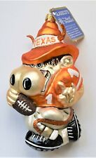 Slavic Treasures Texas Longhorn Blown Glass Christmas Ornament Licensed