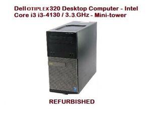 Dell Optiplex 3020 - 3010 - 3090  MT  Core i3 4130  Desktop PC 4GB RAM
