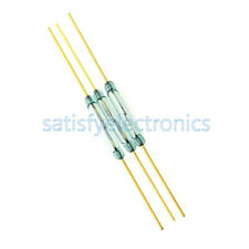 5PCS MKA-14103 2x14mm Gold Tone Leads Glass N/O SPST Reed Switches 10-15AT
